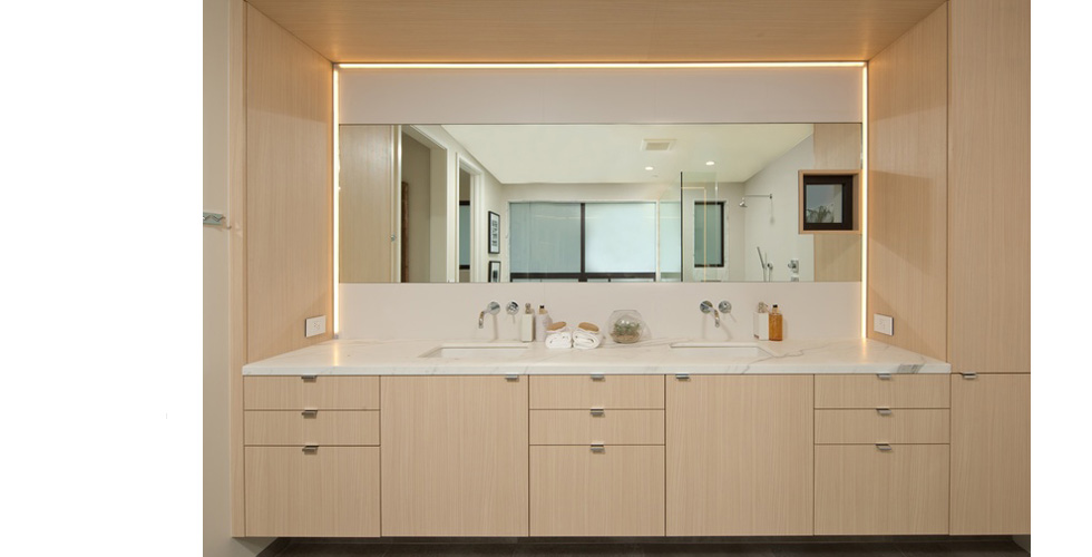 Contemporary Bathroon Double Vanity