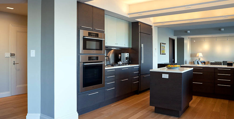 Contemporary kitchen, bathrooms and built-ins