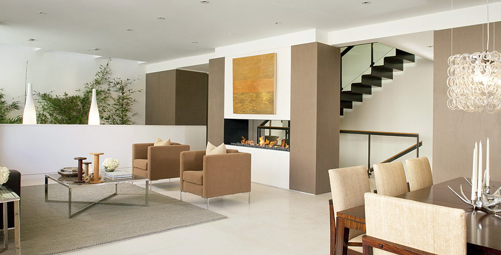 Contemporary wall paneling.